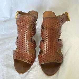 Brown Franco Sarto Wedges Size 8